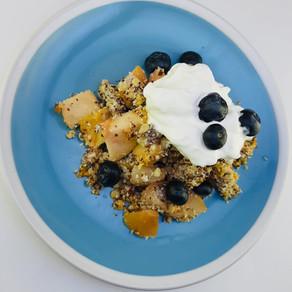 Jablkový crumble (zdravé raňajky)