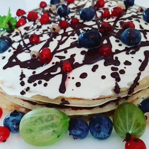 Palacinková torta (nepečená, bez lepku)