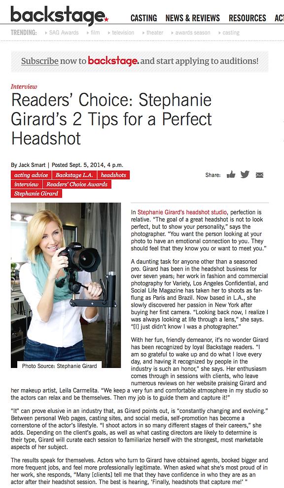 Best Headshot Photographer LA