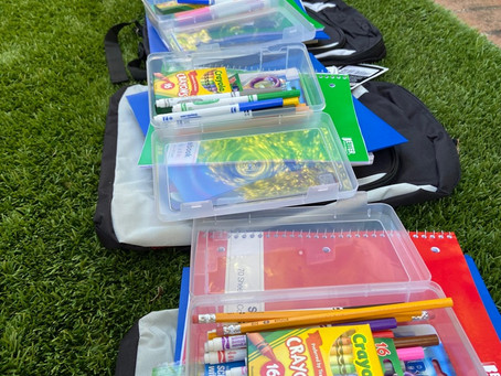 Packing Backpacks for Back to School