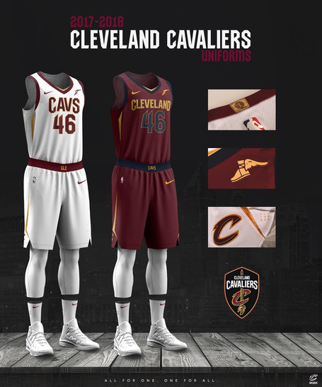 Cleveland Cavaliers Latest to Reveal New Nike Uniforms