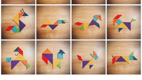 Tangram Puzzles for the Twelve Chinese Zodiac Animals 十二生肖七巧板
