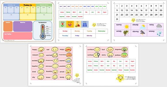 Children's Daily Calendar (English)