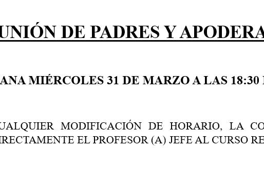 REUNIONES DE PADRES Y APODERADOS