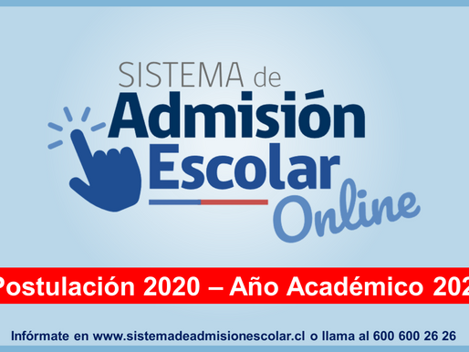 Sistema de Admisión Escolar Online- Postulación 2020