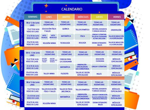 2° Calendario subida de Material