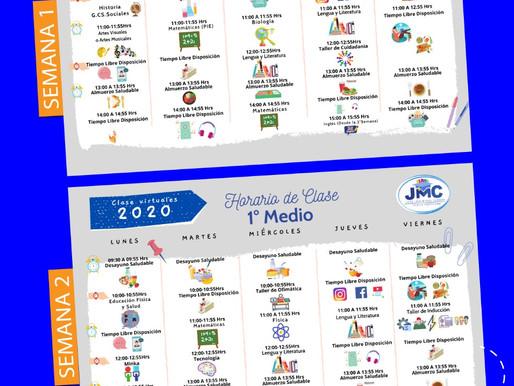 Calendario/Horario Clases Online