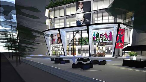 Shopping mall facade, China