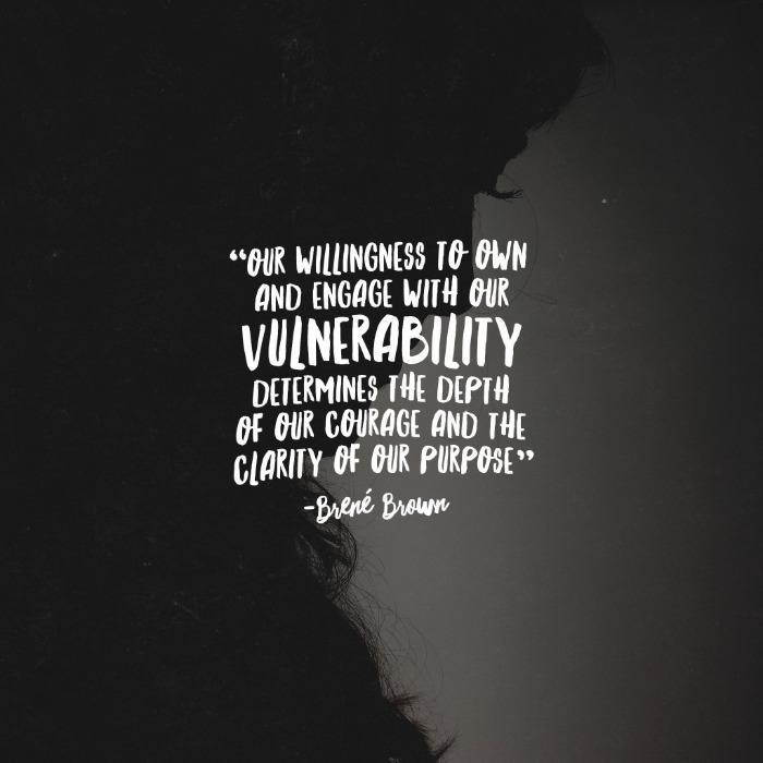 How do you show your vulnerability?