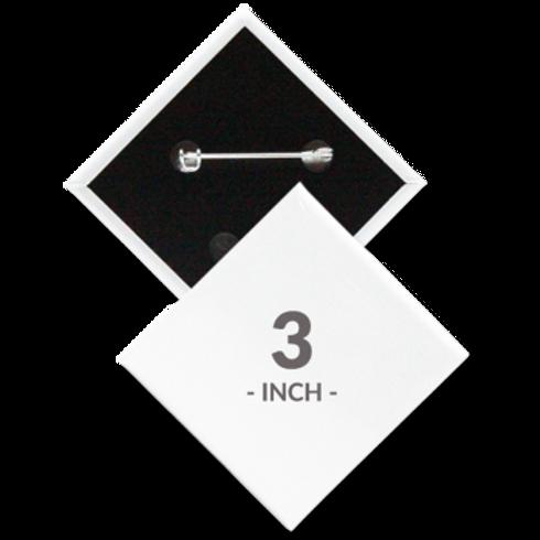 3 x 3 Diamond Shape Pin Buttons