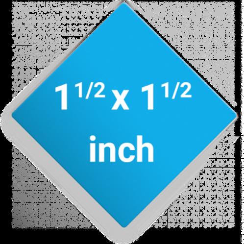 1.5 x 1.5 Diamond Shape Pin Buttons