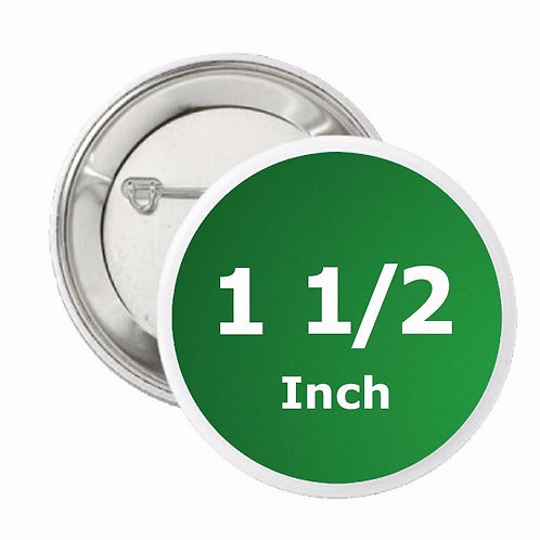 1.5 Inch Round Pin Buttons