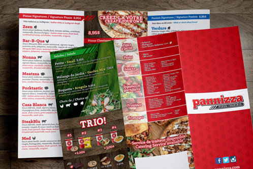 8.5 x 14 Take Out Menus
