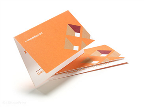 4 x 3.5 Fold Over Business Cards