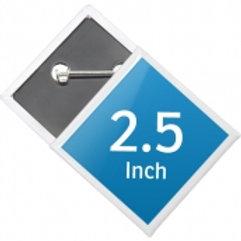 2.5 x 2.5 Diamond Shape Pin Buttons