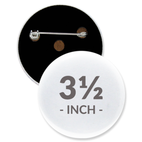 3.5 Inch Round Pin Buttons