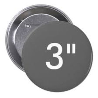 3 Inch Round Pin Buttons