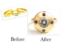 Diamond Sapphire & Ruby Ring