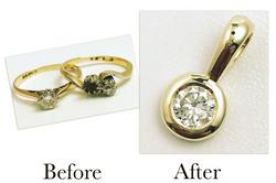 Bezel Set Diamond Pendant