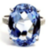 Jewellery Commission. Blue Topaz and diamond ring. Hand made and hand assembled ring