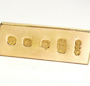 Jewellery Commission. 22ct gold ingot made from customers existing gold jewellery. Jewellery redesign.