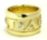Jewellery Commission. Testimonial page. Cad designed band ring. Personalised band ring with fleur de lis details. Diamod set. Bespoke wedding band.