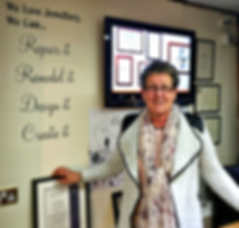 Marlene Wilde. Jewellers Wife. Family business.