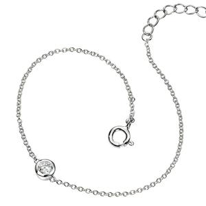 "Silver Delicate Sparkle Bracelet 6 3/4 - 7 1/2"""