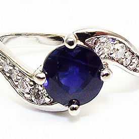 Jewellery Commission. Sapphire and diamond cad designed ring. Bespoke one off.