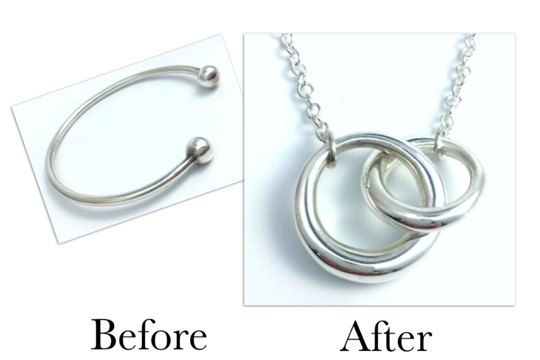 Silver Double Loop Pendant