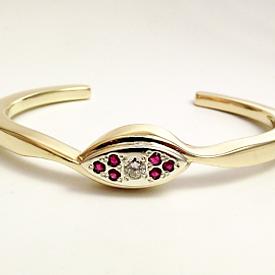 Jewellery Commission. Remodelled jewelleryinto a handmade ruby and diamond bangle. Bespoke bangle. One off.