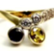 Jewellery Commission. Sapphire and diamond handmade ring. Bespoke ring.