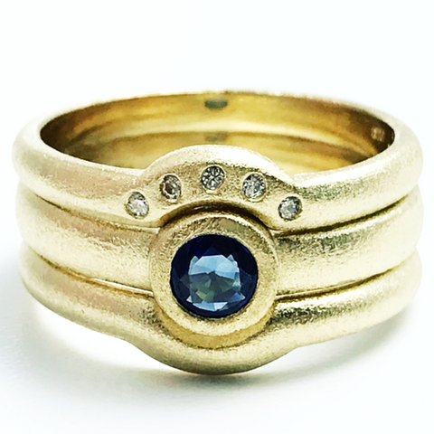 Handmade. Shaped to fit engagement wedding and eternity rings