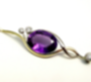 Jewellery Commission. Amethyst and diamond pendant. Handmade for you. Bespoke jewellery.