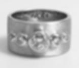 Jewellery Commission. Testimonial page. White gold and diamond bespoke band ring. Diamond set and textured finish.