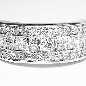 Jewellery Commission. White gold and diamond band ring. Cad designed and handset diamonds. Bespoke ring.