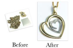 Two Tone Diamond Heart Pendant
