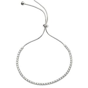 Silver Delicate Adjustable Sparkle Bracelet