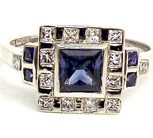 Jewellery Commission. Cad cam designed engagement ring. Sapphire and diamond ring. Palladium ring design.