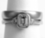 Jewellery Commission. Testimonial page. Shaped to fit wedding band. One off handmade design. Bespoke wedding band.