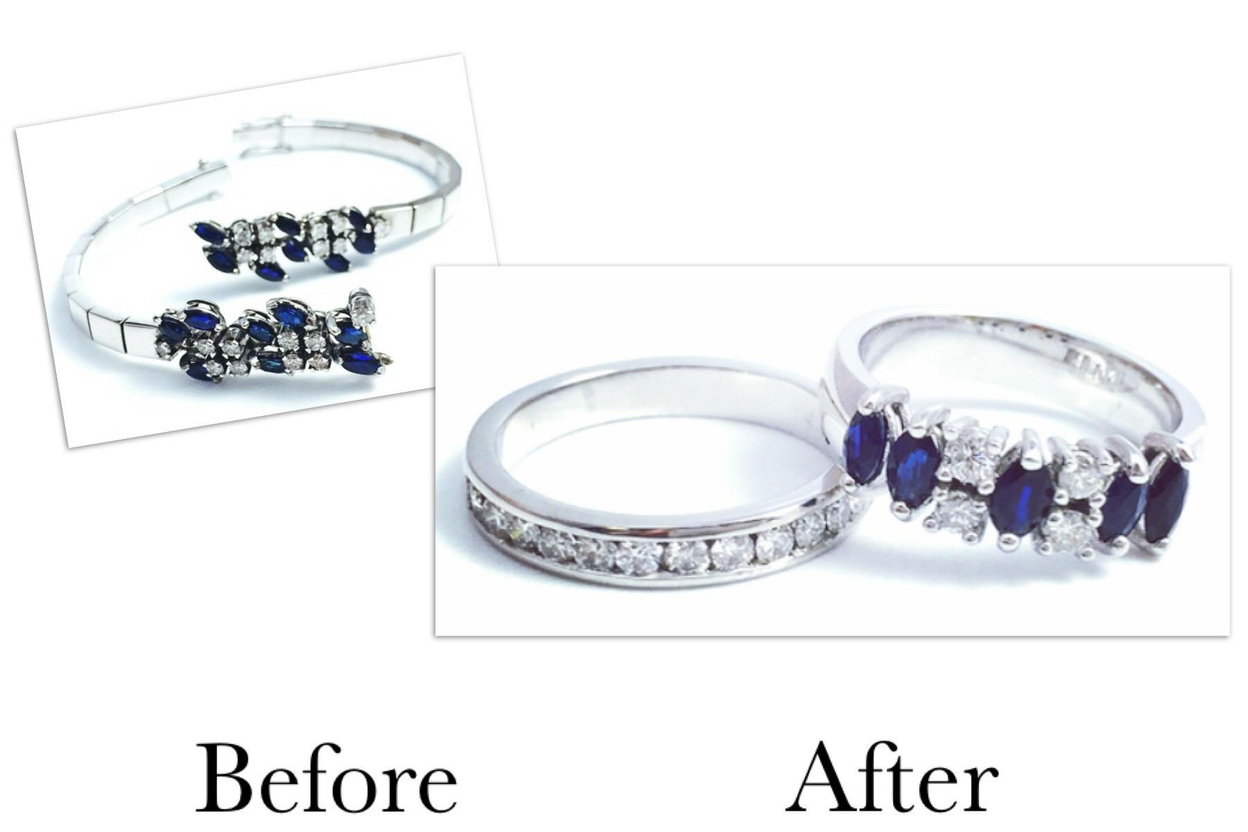 Sapphire & Diamond Bracelet Redesign