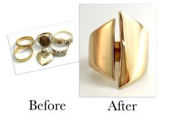 Gold Open Dress Ring