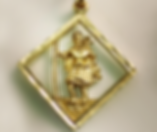 Jewellery Commission. Testimonial page. St Christopher cad designed pendant. Bespoke pendant in 9ct yellow gold.
