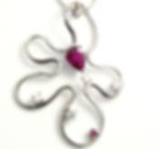Jewellery Commission. Ruby and diamond bespoke pendant.
