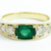 Jewellery Commission. Emerald and diamond eternity ring. Part cad cam and par t handmade.