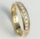 Jewellery Commission. Testimonial page. Diamonds set into a wedding band. Sentimental band ring redesign.