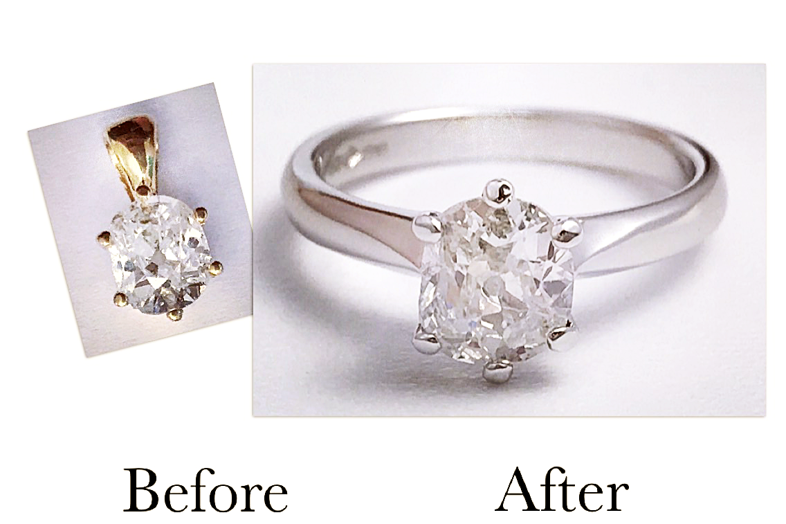 Old Cut Diamond Engagement Ring