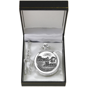 Pewter Pocket Watch With 37cm Silver Tone Chain