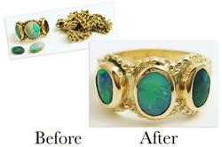 Worn Opal Ring