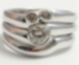 Jewellery Commission. Testimonial page. White gold shaped to fit rings. Diamond engagement ring, wedding ring and eternity ring. Handmade jewellery.